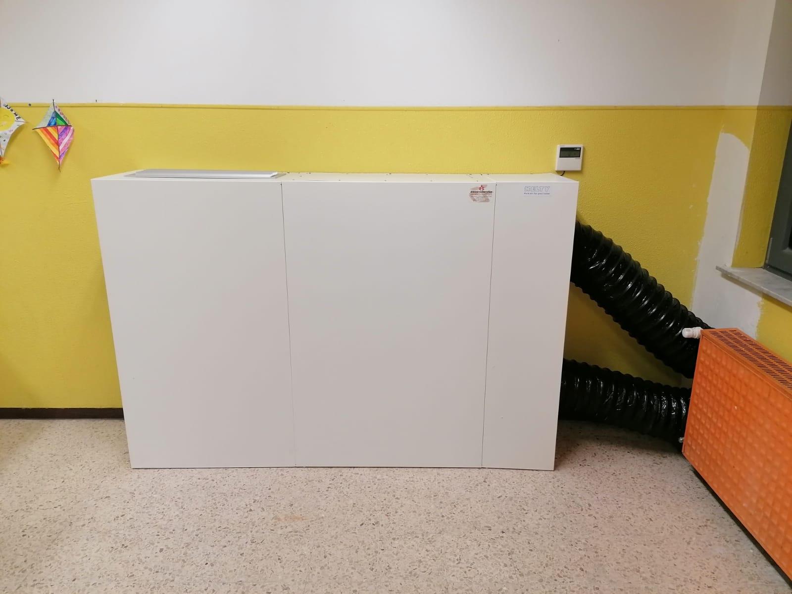 flow 800 sistema ricambio aria sanificazione